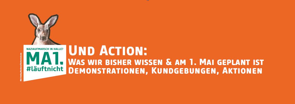 Und Action: Was wir bisher wissen und was am 1. Mai geplant ist. Demonstrationen, Kundgebungen, Aktionen.